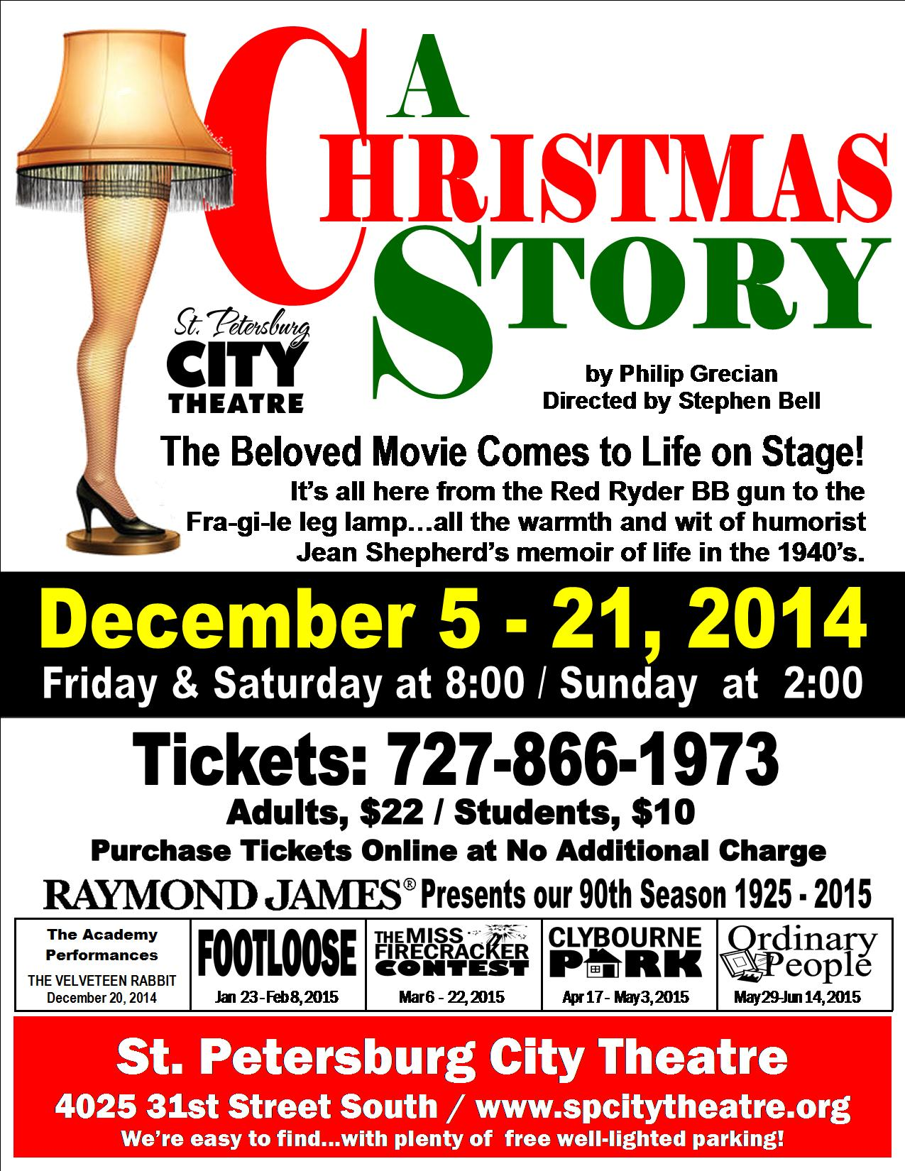 a christmas story flyer 85 x 11 - A Christmas Story Online