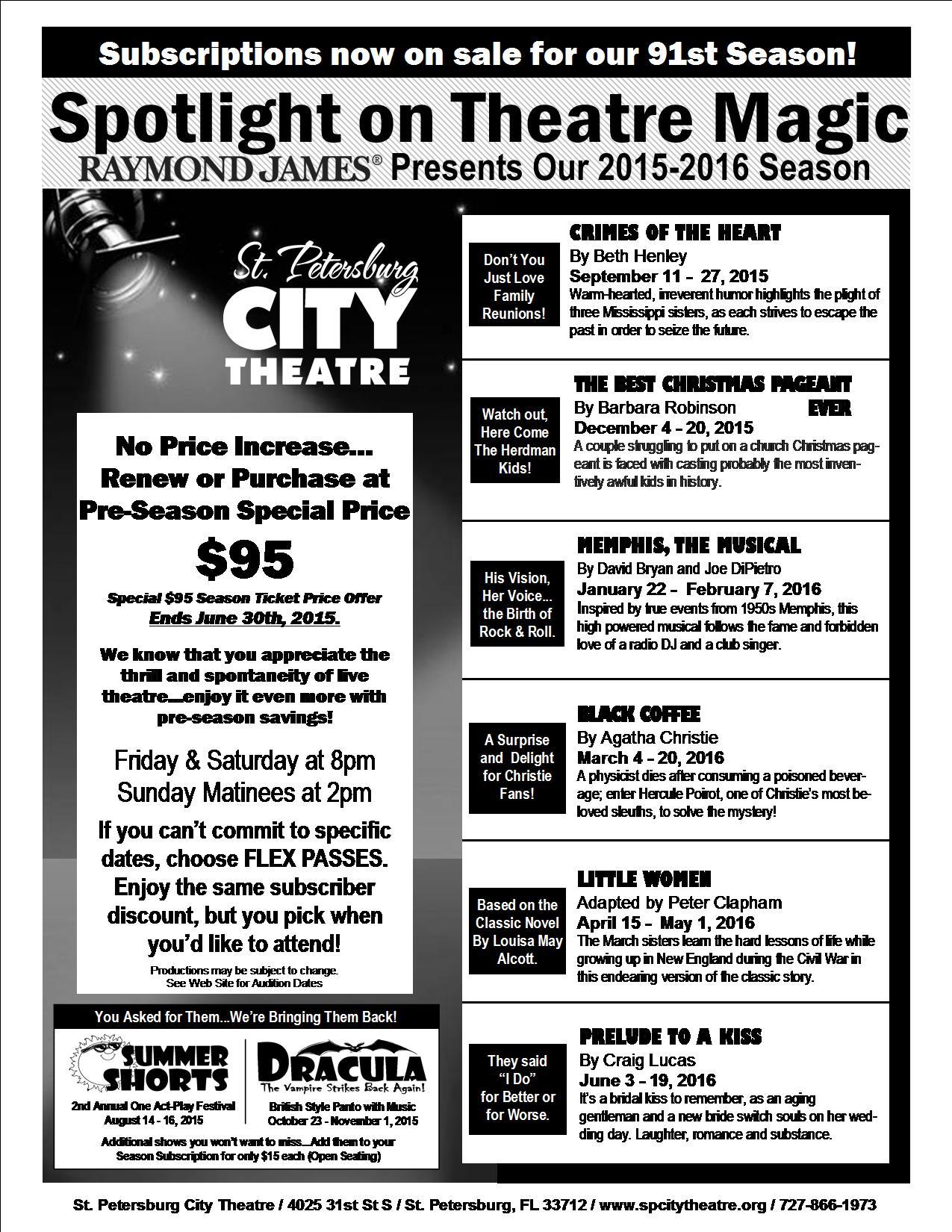 Season Ticket Flyer & Order Form 2015-2016 side 1