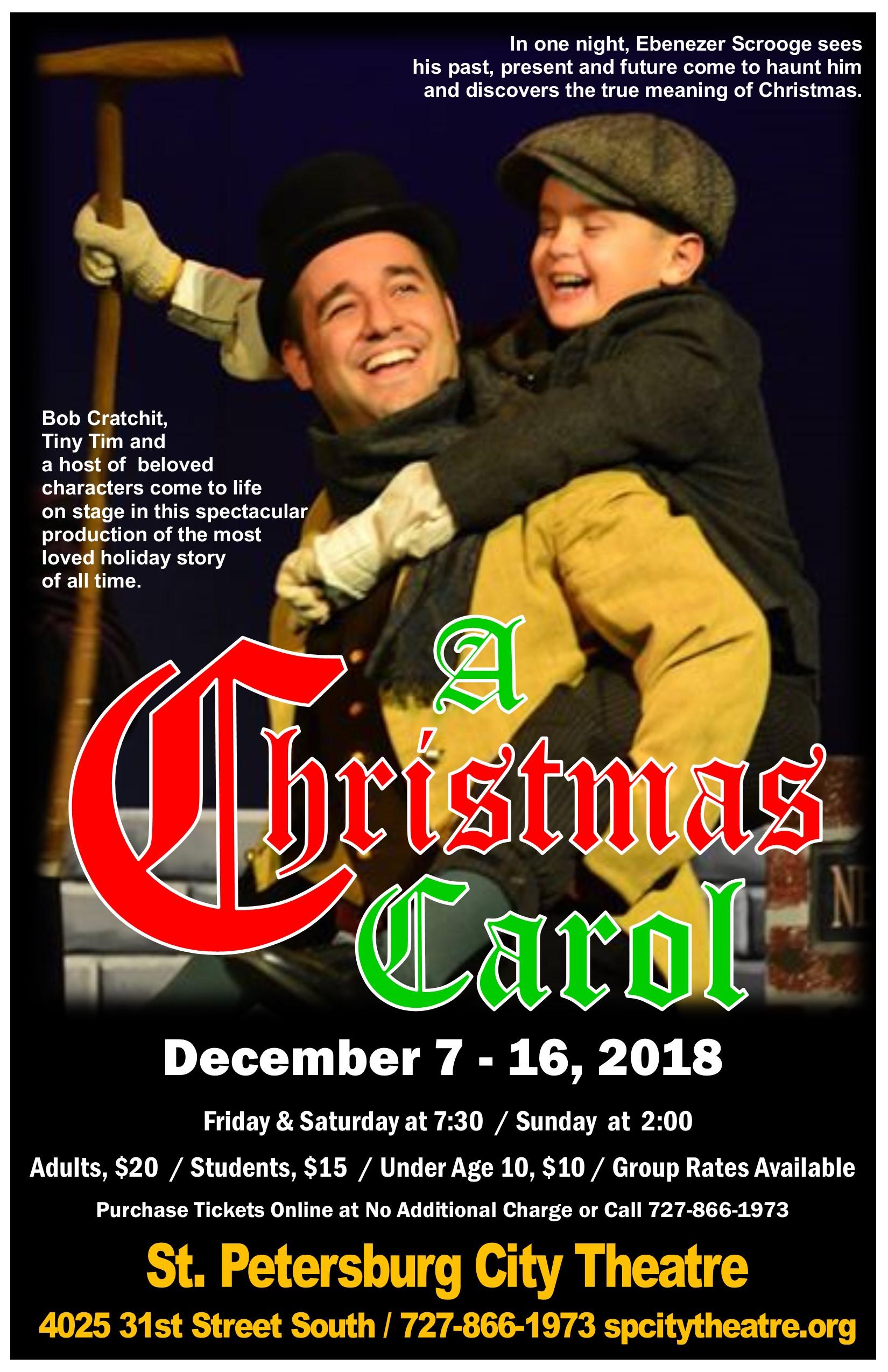 A Christmas Carol Poster.A Christmas Carol Poster 2018 St Petersburg City Theatre